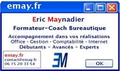 Carte De Visite Eric Maynadier Coach Bureautique Accompagnement Dans Vos Realisations Office